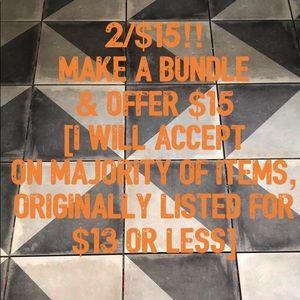 2/$15 sale!!